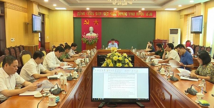 Chuẩn bị tốt các điều kiện phục vụ Đại hội Đảng bộ tỉnh lần thứ XX, nhiệm kỳ 2020-2025
