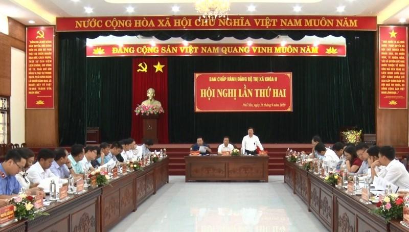 Hội nghị lần thứ 2 Ban Chấp hành Đảng bộ Thị xã Phổ Yên khóa II, nhiệm kỳ 2020-2025