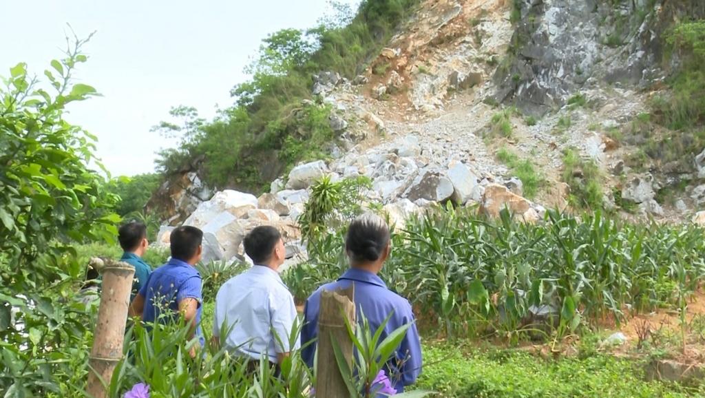 Định Hóa: Cần khẩn trương khắc phục hậu quả sạt lở núi đá Nà Khao