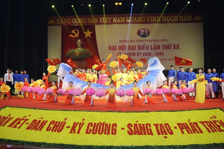 [Photo] Toàn cảnh Khai mạc Đại hội đại biểu Đảng bộ tỉnh Thái Nguyên lần thứ XX, nhiệm kỳ 2020-2025
