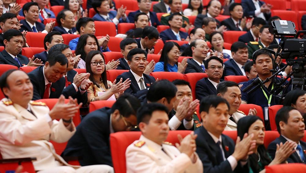 [Photo] Phiên bế mạc Đại hội đại biểu Đảng bộ tỉnh Thái Nguyên lần thứ XX