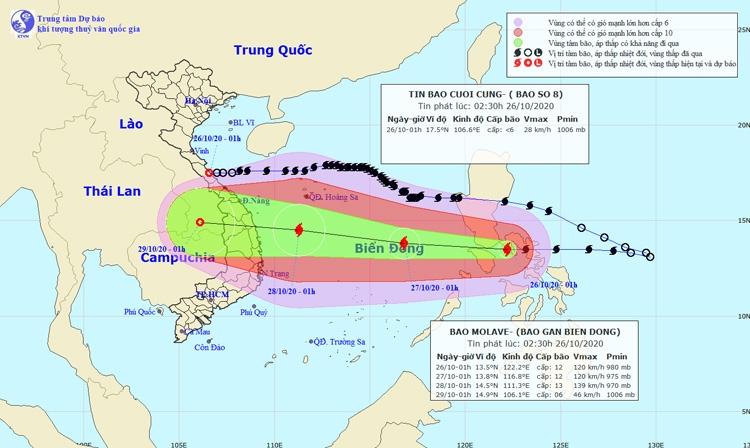 Vùng áp thấp gây mưa từ Nghệ An đến Quảng Trị