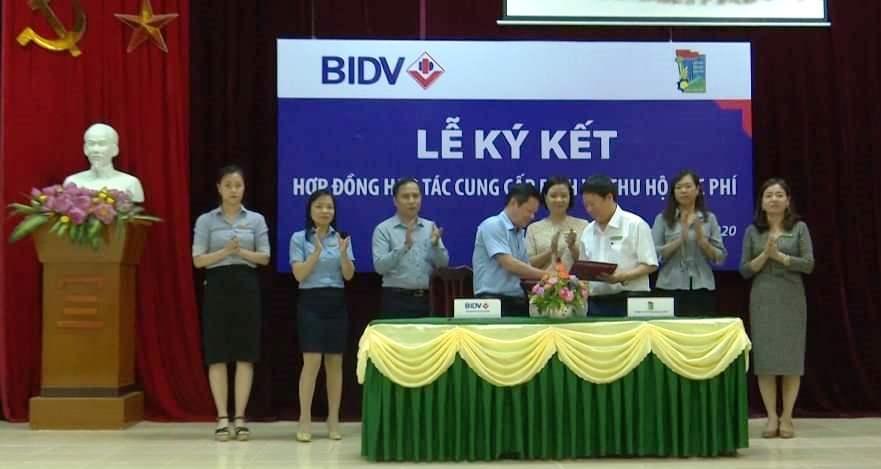 BIDV Thái Nguyên: Hợp tác dịch vụ thu hộ học phí