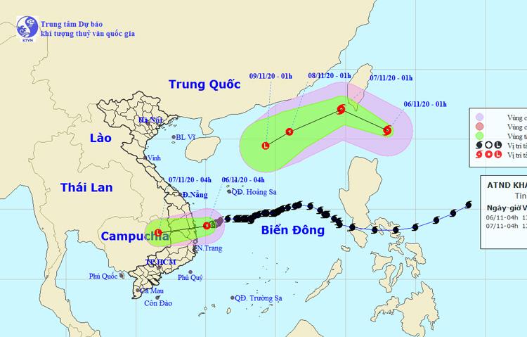 Áp thấp nhiệt đới gây mưa lớn ở miền Trung; gần biển Đông lại có bão