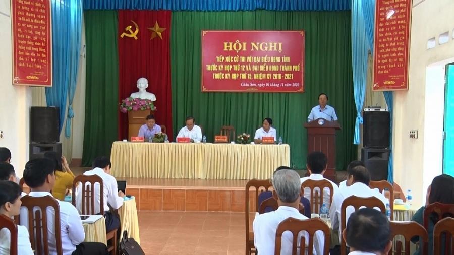 Tiếp xúc cử tri trước Kỳ họp thứ 12 - HĐND tỉnh khóa XIII
