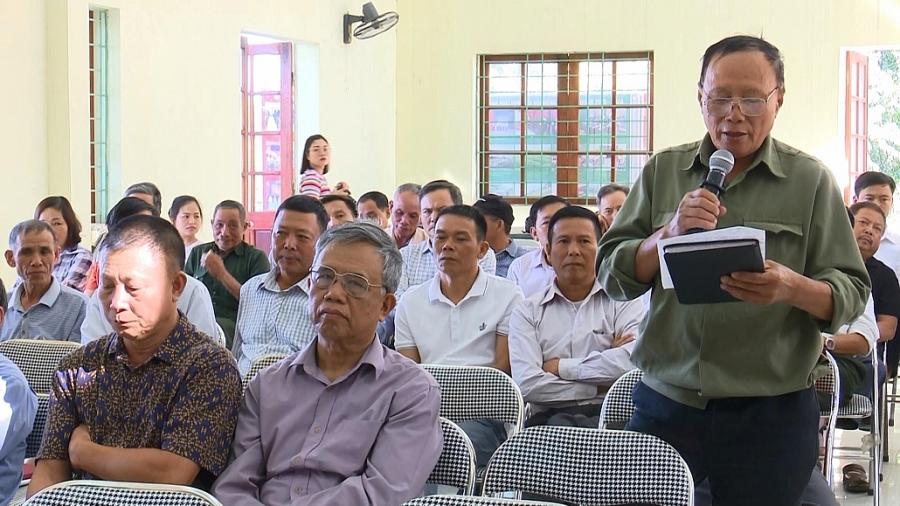 Tiếp xúc cử tri trước Kỳ họp thứ 12 - HĐND tỉnh khóa XIII (TS 10/11)