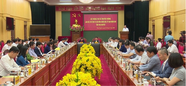 Bộ Thông tin và Truyền thông làm việc tại Thái Nguyên