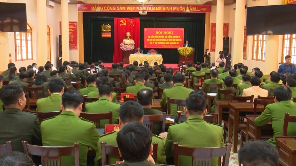 Tiếp xúc cử tri chuyên đề với cán bộ, chiến sỹ công an tỉnh Thái Nguyên