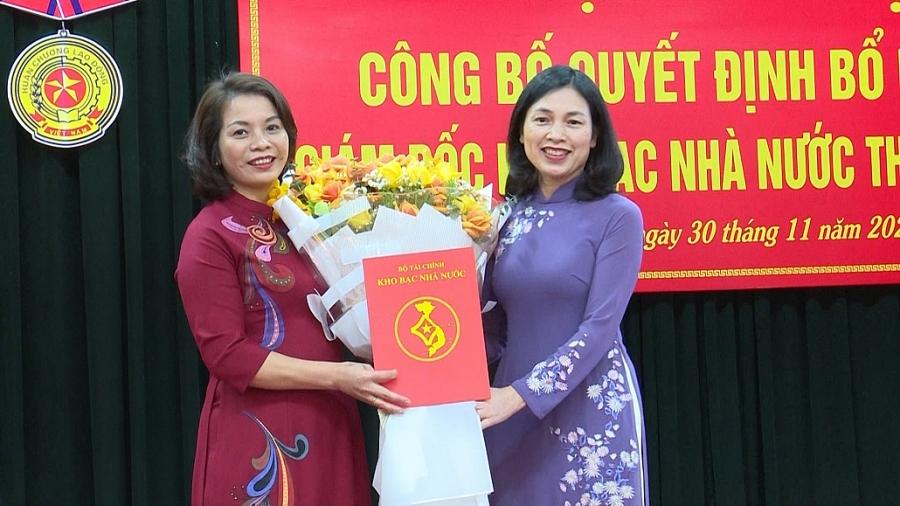 Công bố quyết định bổ nhiệm Giám đốc Kho bạc Nhà nước tỉnh Thái Nguyên (TS 30/11)