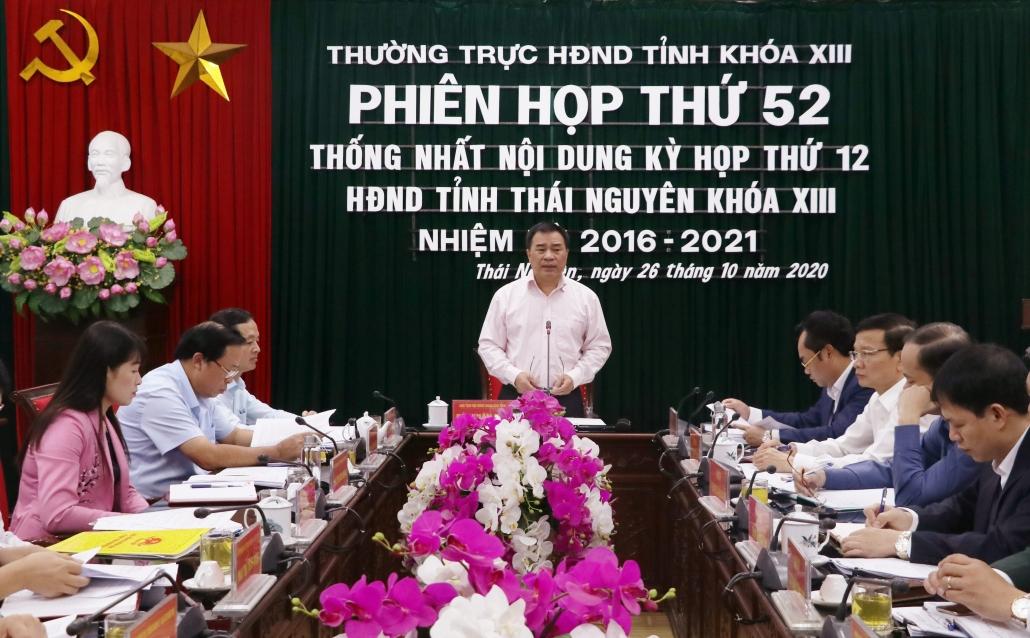 Kỳ họp thứ mười hai, HĐND tỉnh Thái Nguyên khóa XIII, nhiệm kỳ 2016-2021