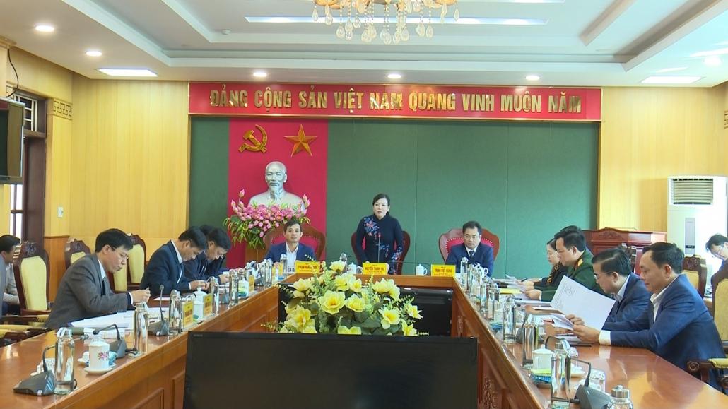Hội nghị Ban Thường vụ Tỉnh ủy cho ý kiến vào mội số nội dung trình HĐND tỉnh
