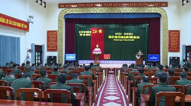 Tiếp tục tập trung xây dựng lực lượng vũ trang tỉnh vững mạnh toàn diện