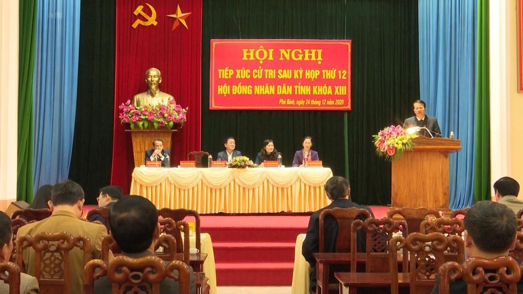 Đại biểu HĐND tỉnh tiếp xúc cử tri tại huyện Phú Bình
