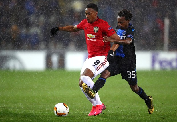 hoa club brugge manchester united gianh uu the truoc tran luot ve