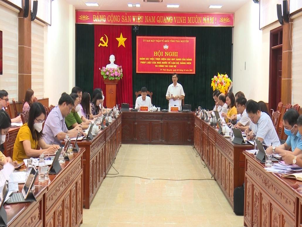Giám sát việc thực hiện các quy định của Đảng, pháp luật của Nhà nước về cán bộ, đảng viên và công tác cán bộ