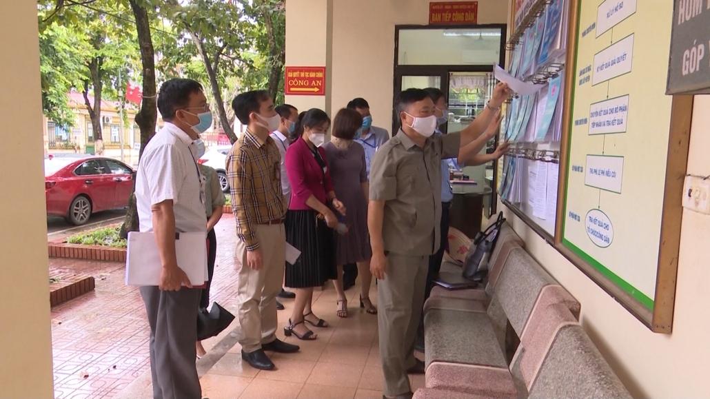 Kiểm tra công tác cải cách hành chính tại huyện Đại Từ