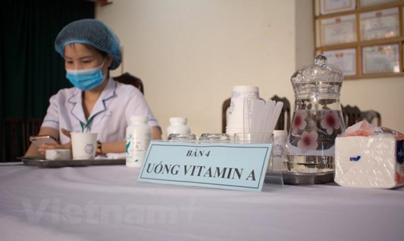 ha noi to chuc 1800 diem uong vitamin a lieu cao cho tre em
