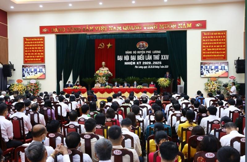 dai hoi dai bieu dang bo huyen phu luong lan thu xxiv nhiem ky 2020 2025