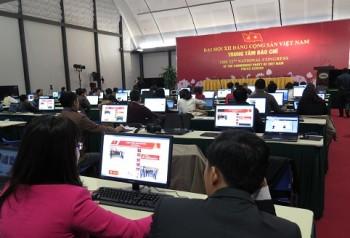 Thông cáo báo chí về ngày làm việc thứ năm Đại hội XII của Đảng