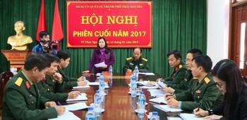 dang uy quan su tp thai nguyen hop phien cuoi nam 2017