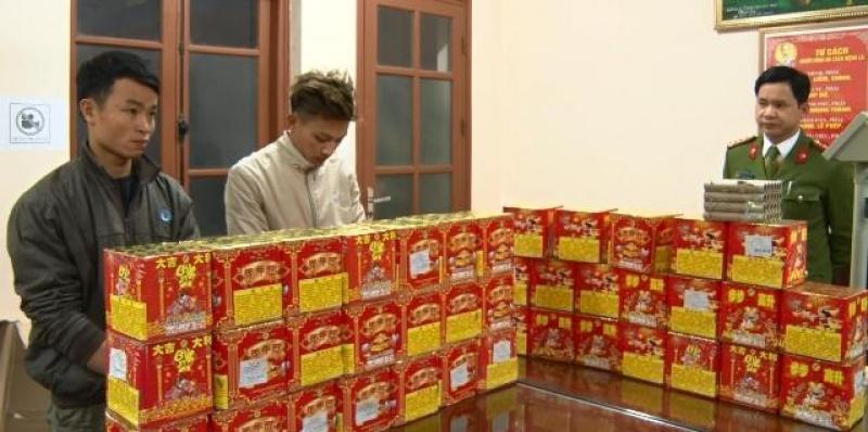 thai nguyen bat cac doi tuong buon ban trai phep gan 60 kg phao no