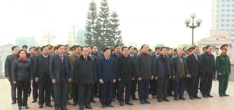 Lãnh đạo tỉnh Thái Nguyên dâng hương, đặt vòng hoa tưởng nhớ các Anh hùng liệt sĩ