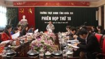 thuong truc hdnd tinh thai nguyen to chuc phien hop thu 18 hdnd tinh khoa xiii