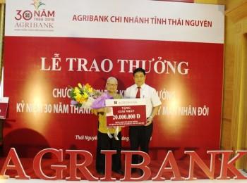 agribank thai nguyen trao thuong cho khach hang