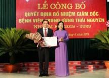 cong bo quyet dinh bo nhiem giam doc benh vien trung uong thai nguyen