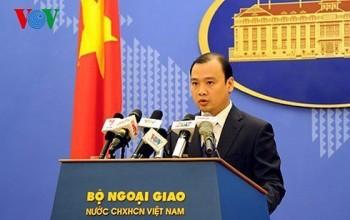Việt Nam lên tiếng về việc tàu khu trục Mỹ hoạt động gần Hoàng Sa
