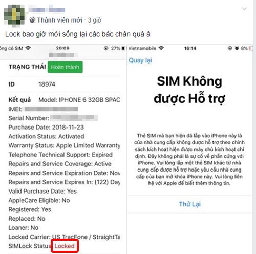 iphone khoa mang sap het thoi