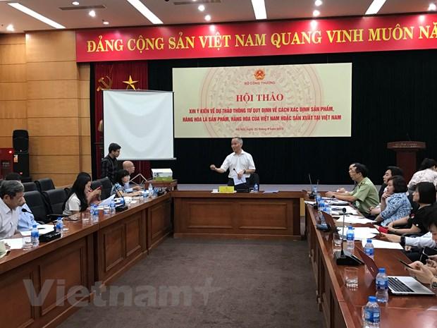 Sẽ có thước đo chuẩn giúp xác định sản phẩm 'Made in Vietnam'