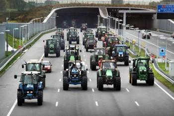 Nông dân lái máy kéo trên 1.000 km đường làm giao thông Hà Lan tê liệt