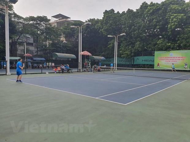 200 vận động viên dự giải quần vợt Công đoàn Viên chức Việt Nam 2019