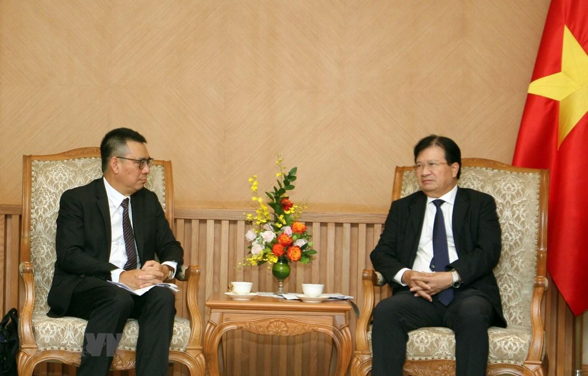 Phó Thủ tướng Trịnh Đình Dũng tiếp Tổng Giám đốc Tập đoàn SCG