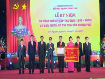 truong dai hoc nong lam thai nguyen ky niem 50 nam va don nhan co thi dua cua chinh phu