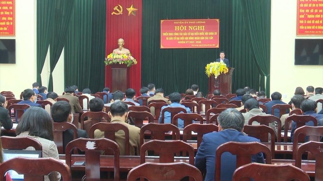 Phú Lương: Triển khai công tác bầu cử đại biểu Quốc hội khoá XV và đại biểu HĐND các cấp