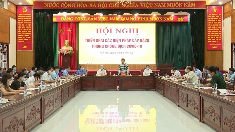 Lãnh đạo tỉnh kiểm tra công tác phòng, chống COVID-19 trên địa bàn thị xã Phổ Yên