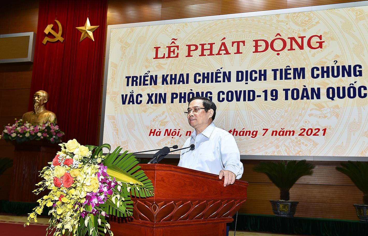 Thủ tướng phát động chiến dịch tiêm chủng lớn nhất lịch sử cho 75 triệu người dân Việt Nam