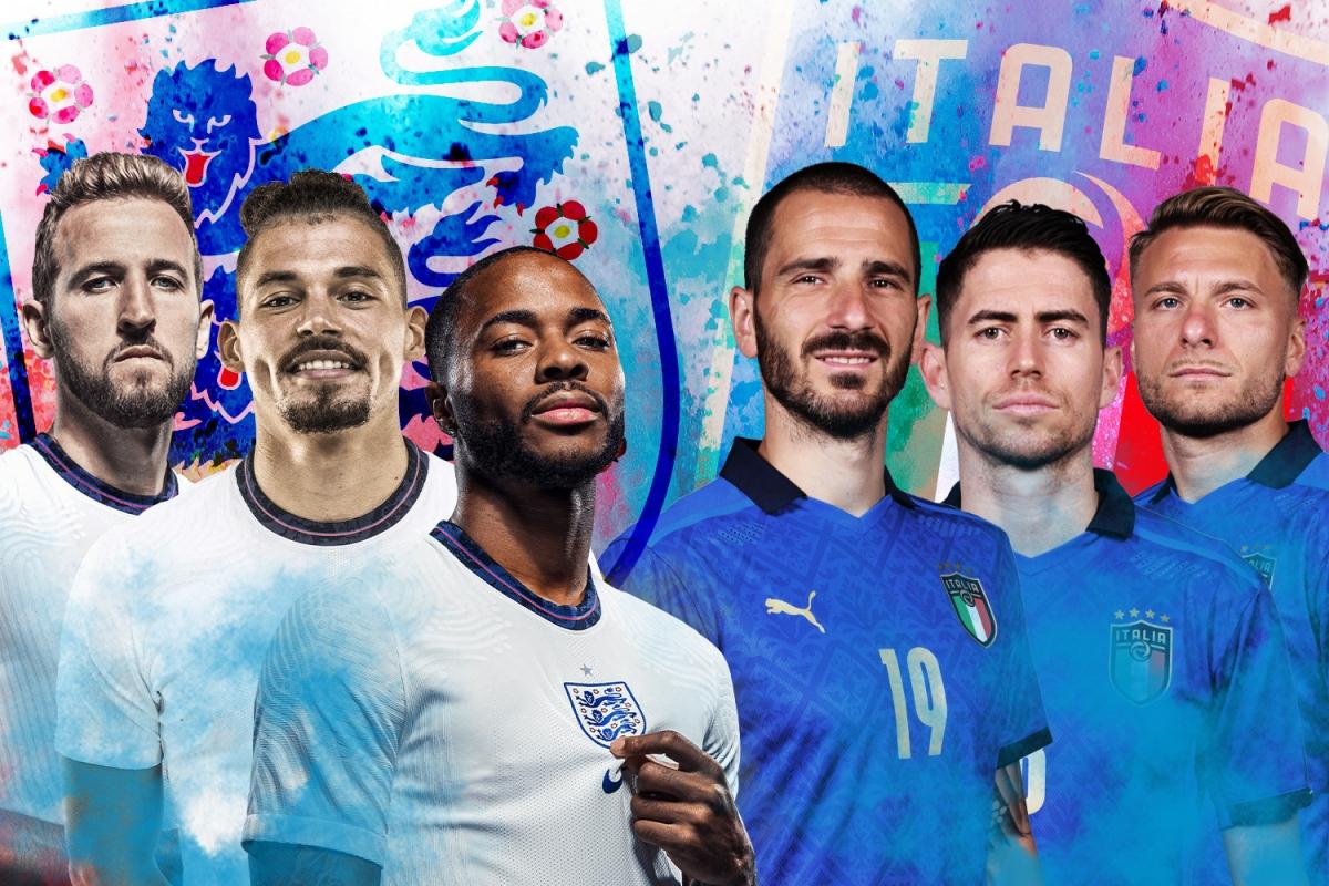 Những con số thống kê thú vị trước trận chung kết Euro Anh - Italy