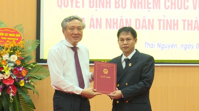 cong bo va trao quyet dinh bo nhiem chanh an tand tinh thai nguyen