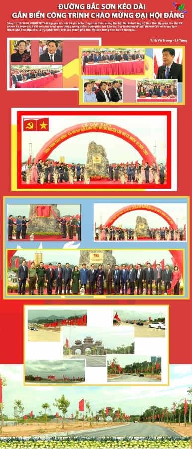 [Infographics] Gắn biển công trình chào mừng Đại hội đại biểu Đảng bộ tỉnh Thái Nguyên lần thứ XX