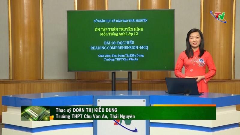 Ôn tập chương trình phổ thông môn Tiếng Anh lớp 12 – chuyên đề:  Đọc hiểu Reading Comprehension- MCQ