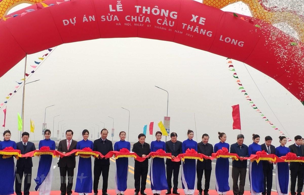Hà Nội: Thông xe cầu Thăng Long, kết nối hoàn chỉnh đường vành đai 3