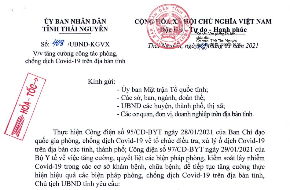 Tăng cường công tác phòng, chống dịch COVID-19 trên địa bàn tỉnh
