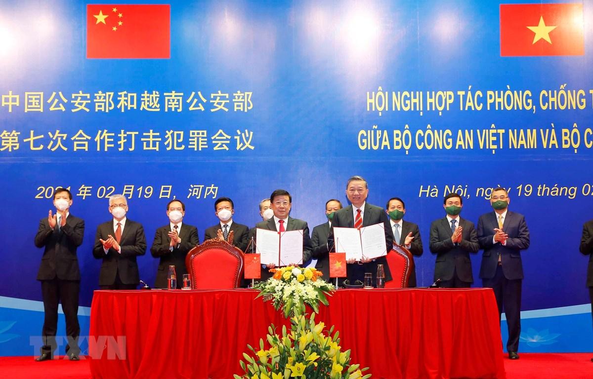 Hội nghị hợp tác phòng, chống tội phạm lần thứ 7 Việt Nam-Trung Quốc