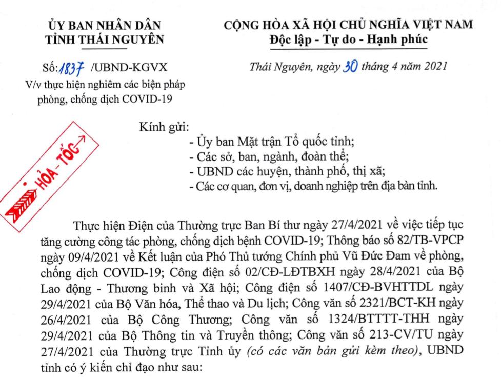 Thực hiện nghiêm các biện pháp phòng, chống dịch COVID-19