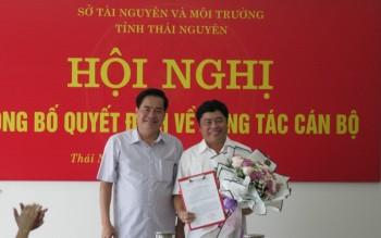 thai nguyen bo nhiem pho giam doc so tai nguyen va moi truong