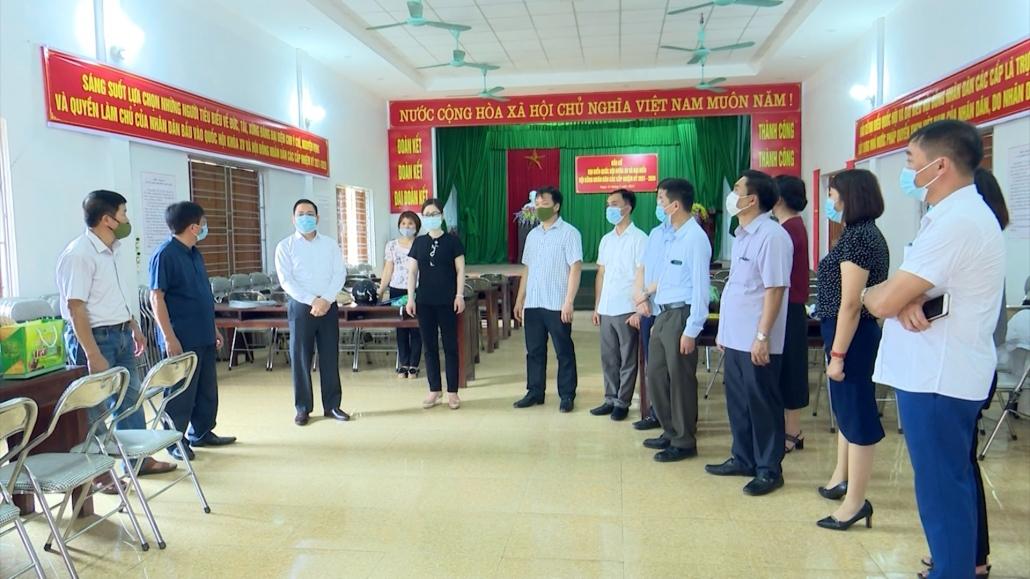 Kiểm tra công tác bầu cử trên địa bàn thành phố Thái Nguyên