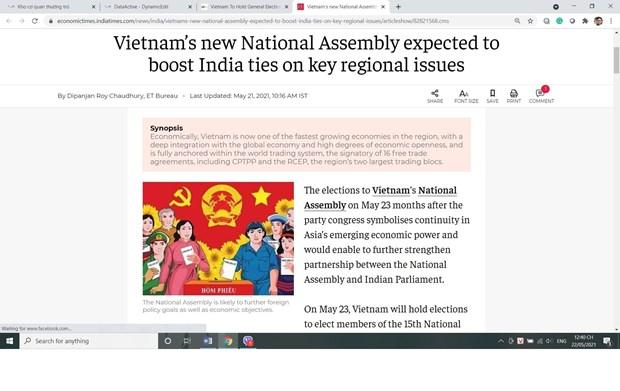 Truyền thông Ấn Độ đánh giá cao công tác chuẩn bị bầu cử của Việt Nam